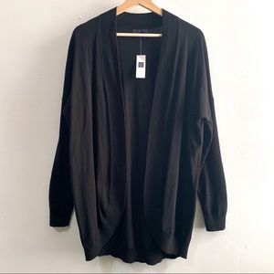 GAP• NWT Black cocoon open cardigan